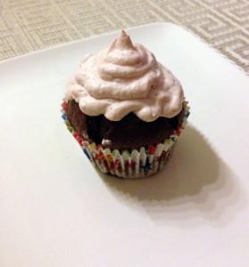 Lulus Schoko Erdbeer Cupcake