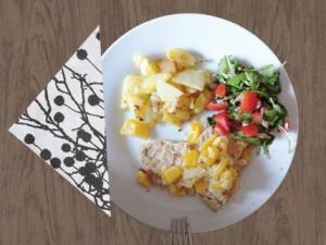 Sojaschnitzel in Paprika-Sahne-Soße